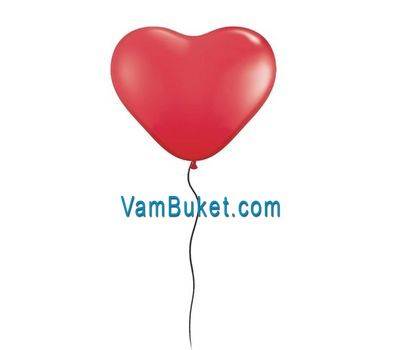 """Balloon in the shape of heart"" in the online flower shop vambuket.com"