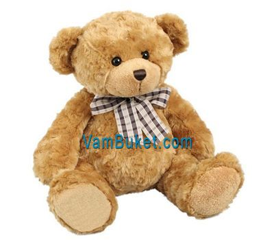 """Soft toy - Brown bear"" in the online flower shop vambuket.com"